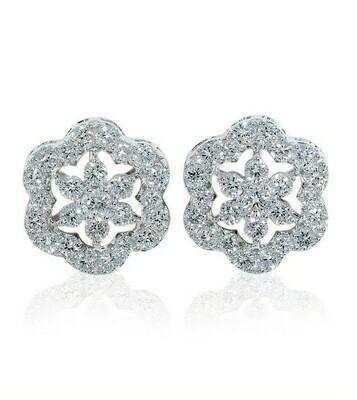 14K white gold 1ctw diamond earrings