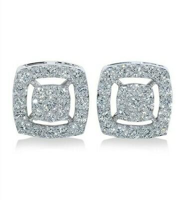 14K white gold 1ctw diamond earring