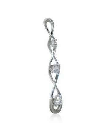 14k white gold 1/3ctw diamond pendant