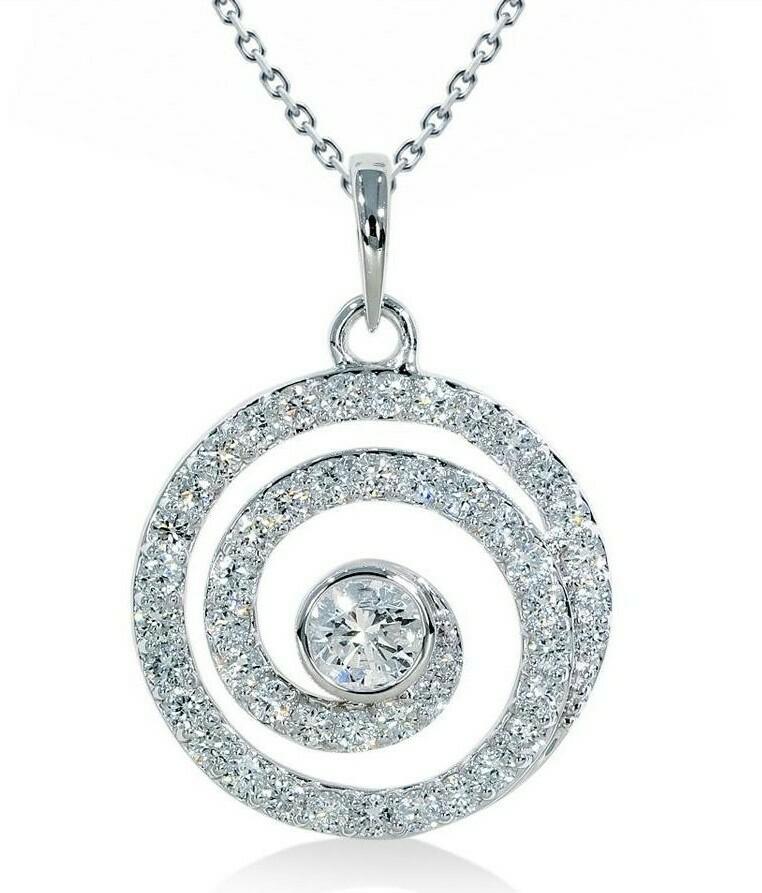 14K white gold 2/3ctw diamond pendant