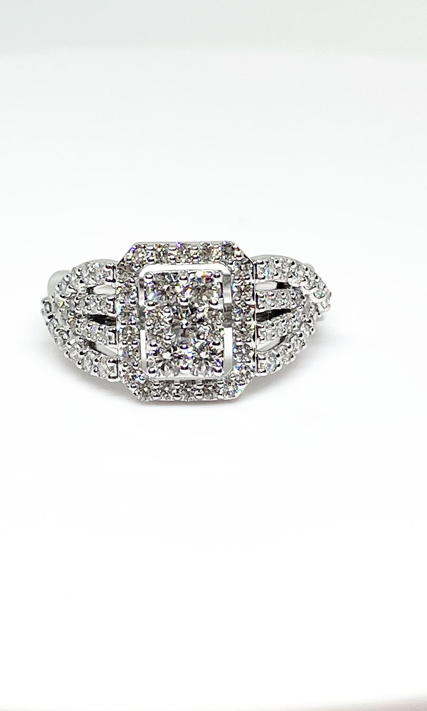 14K white gold 1 1/4 ctw diamond ring
