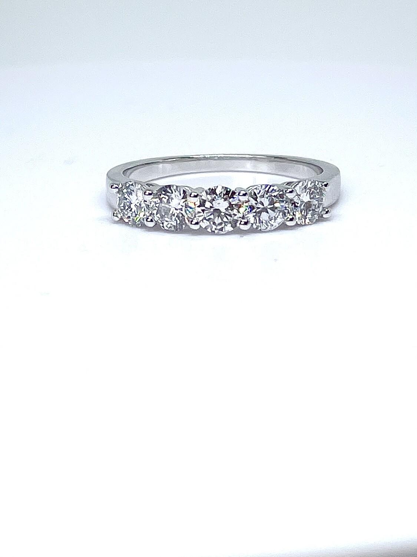 14K white gold 1 1/4 ctw diamond anniversary band