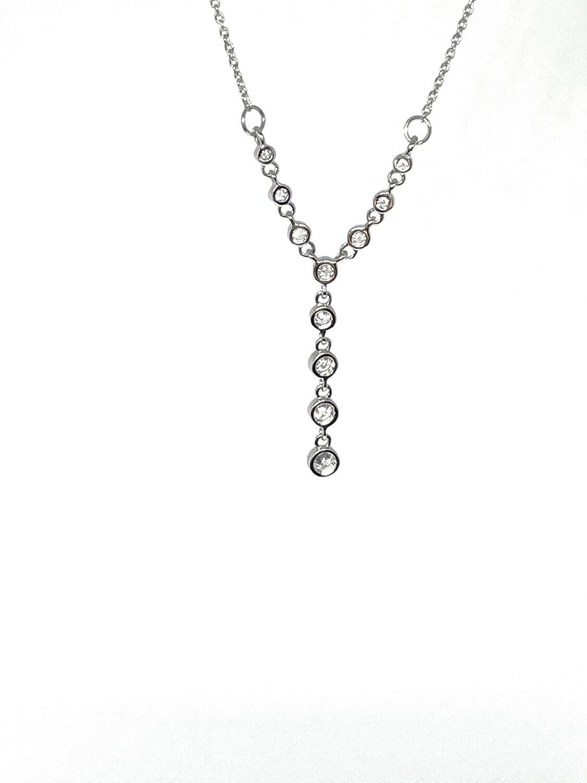 14k White Gold 1/3 Ctw Diamond Necklace