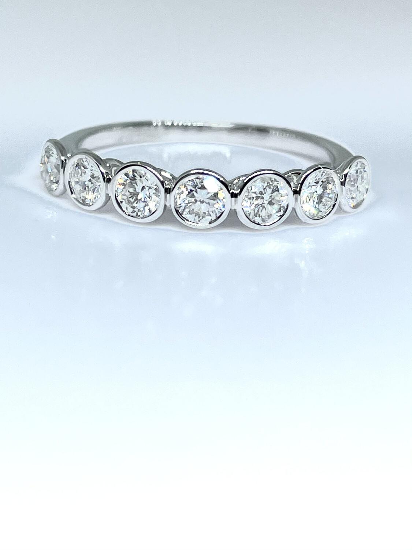 14K white gold 3/4ct diamond band