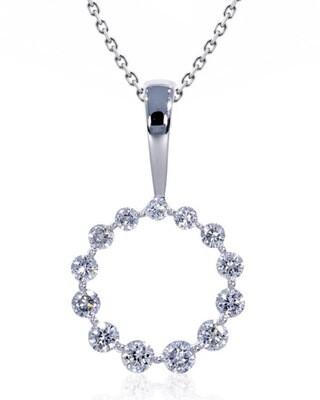 14K White Gold 1/4ctw Diamond Pendant