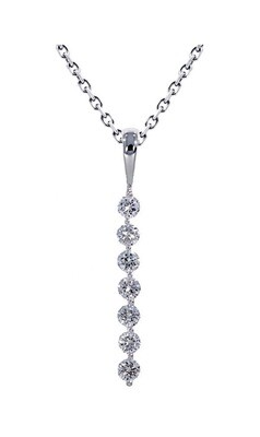 14K White Gold 2/5 Ctw Diamond Pendant