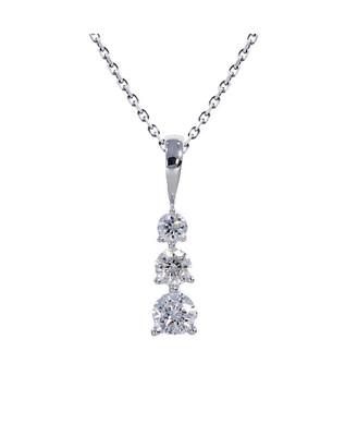 14K White Gold 1/4 Ctw Diamond Pendant