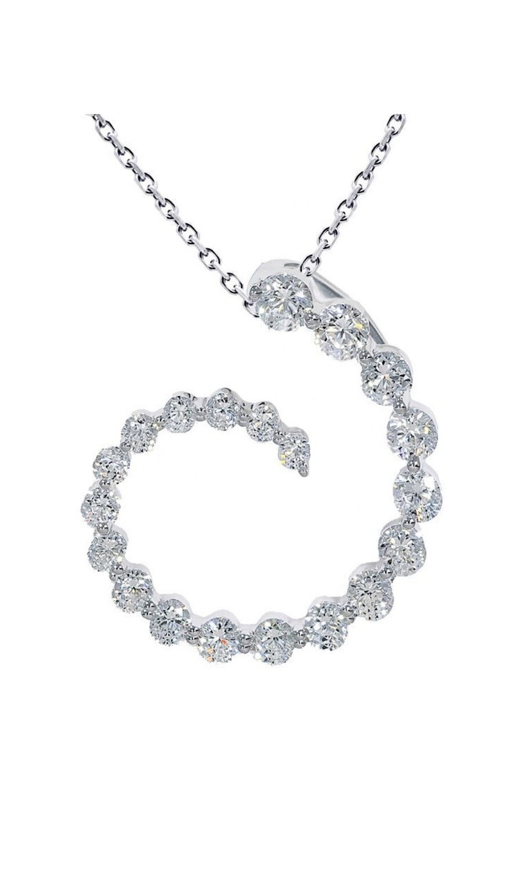 14K White Gold 1 Ctw Diamond pendant