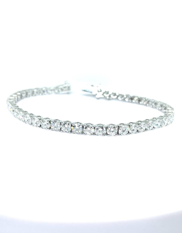 14K White Gold 9 CTW Dia Tennis Bracelet
