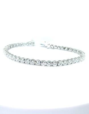 14K White Gold 5 Ctw Diamond Bracelet