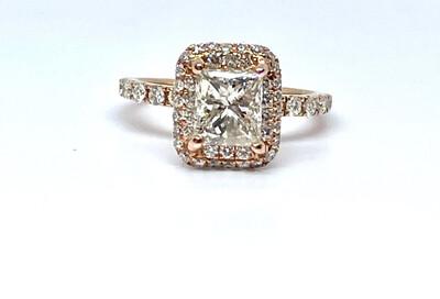 14k Rose Gold 2 1/2 Ctw Diamond Ring