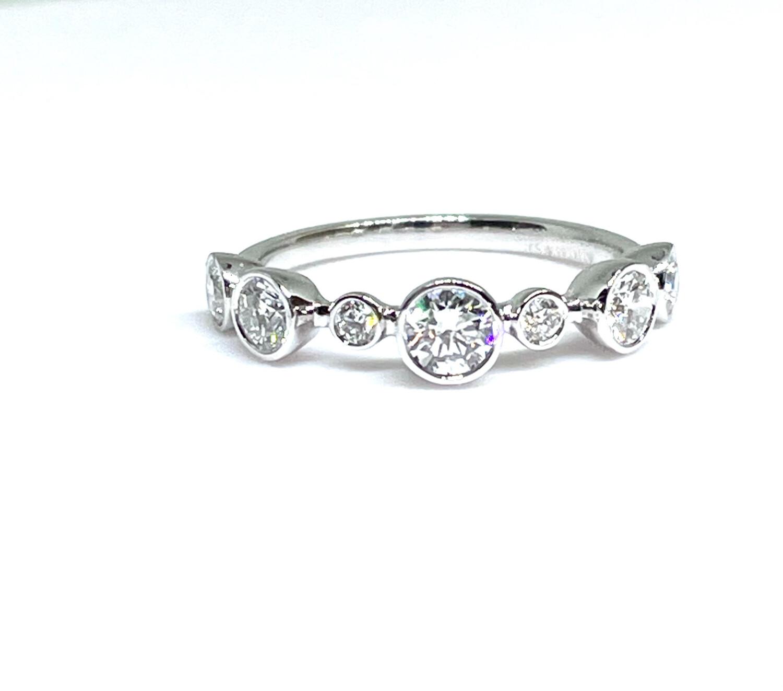 14K White Gold 7/8ctw Diamond Ring