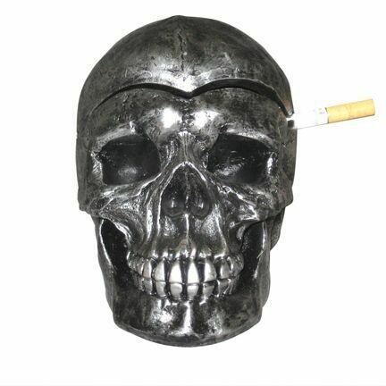 DEATH DEFYING ASHTRAY W/COVER