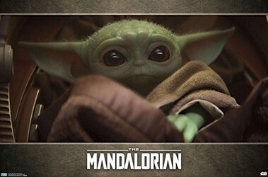 THE MANDALORIAN BABY YODA in BLANKET POSTER