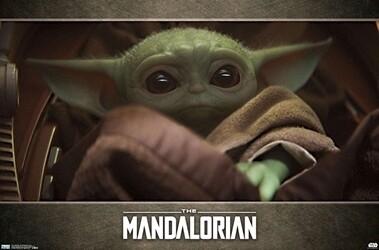 THE MANDALORIAN BABY YODA in BLANKET POSTER