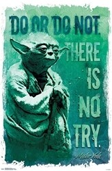 STAR WARS YODA DO OR DO NOT POSTER