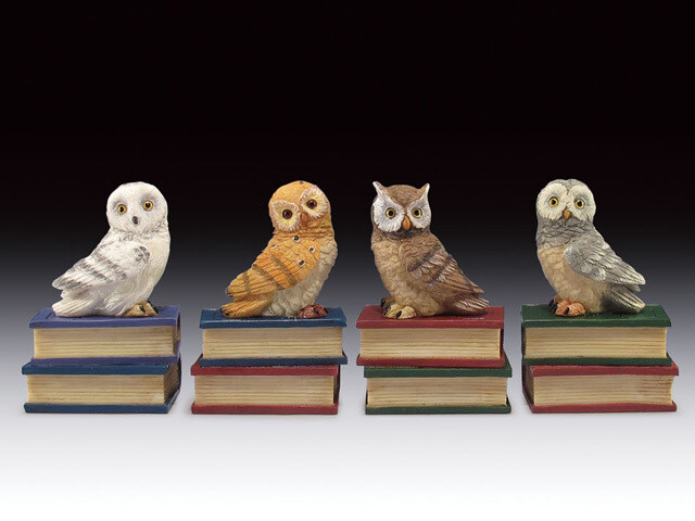 ASSORTED OWL ON BOOKS