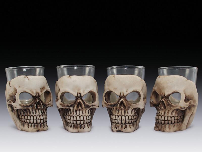 ASSORTED SKULL SHOT GLASS