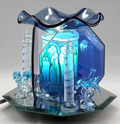 GLASS LIGHTHOUSE FRAGRANCE LAMP