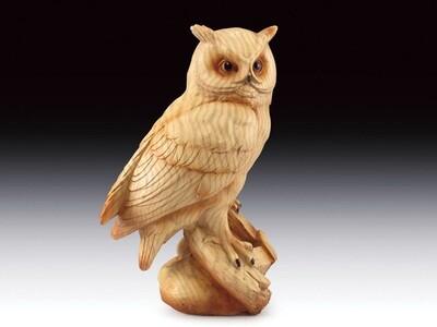 OWL WOOD  LIKE CARVING