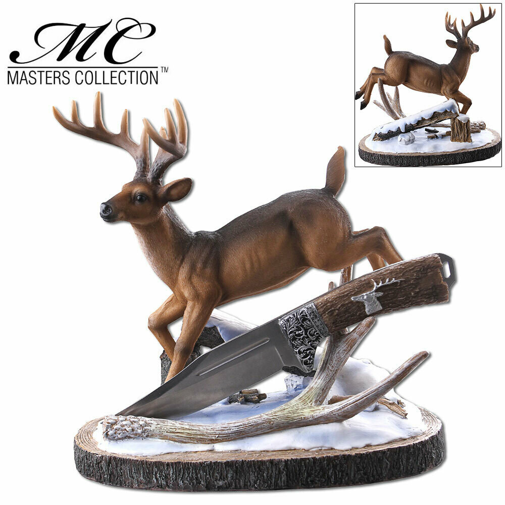 KNIFE DISPLAY WITH DEER HOLDER