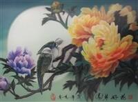 3D NON FRAMED BIRD/FLOWERS/TREE 181