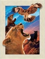 3D NON FRAMED LION/EAGLE/BEAR 920