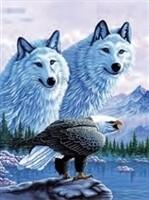 3D NON FRAMED WOLF/EAGLE 252