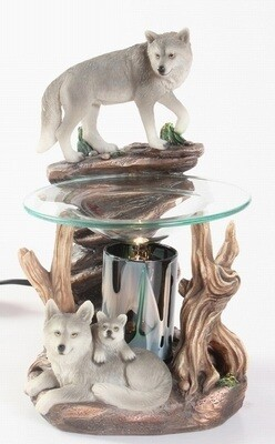 WOLF ON ROCK FRAGRANCE LAMP