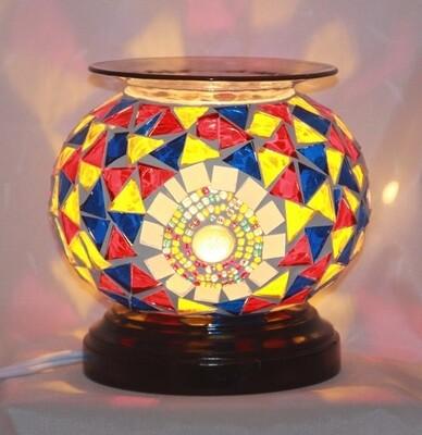 MOSIAC BL/R/Y FRAGRANCE LAMP