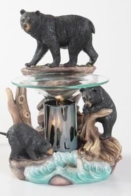 BEAR ON ROCKS FRAGRANCE LAMP