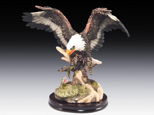 EAGLE WITH RATTLESNAKE