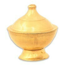 SMALL BRASS POT FOR INCENSE CONES
