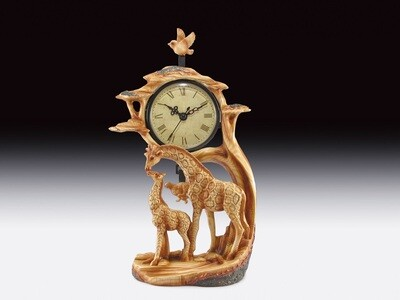 GIRAFFE WOOD LIKE  CLOCK