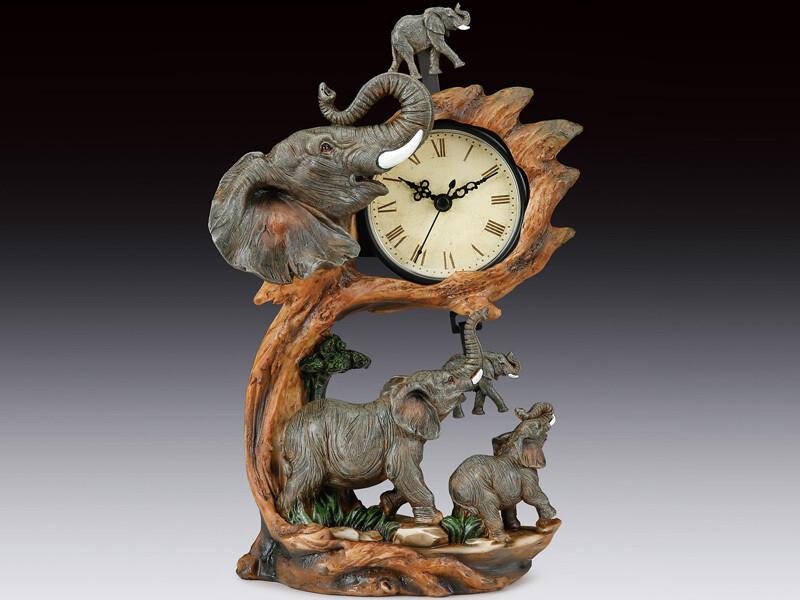 ELEPHANT FAMILY SWING CLOCK