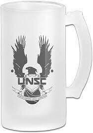 HALO FROSTED STEIN GLASS