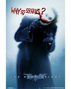 JOKER WHY SO SERIOUS POSTER ON CARDBOARD