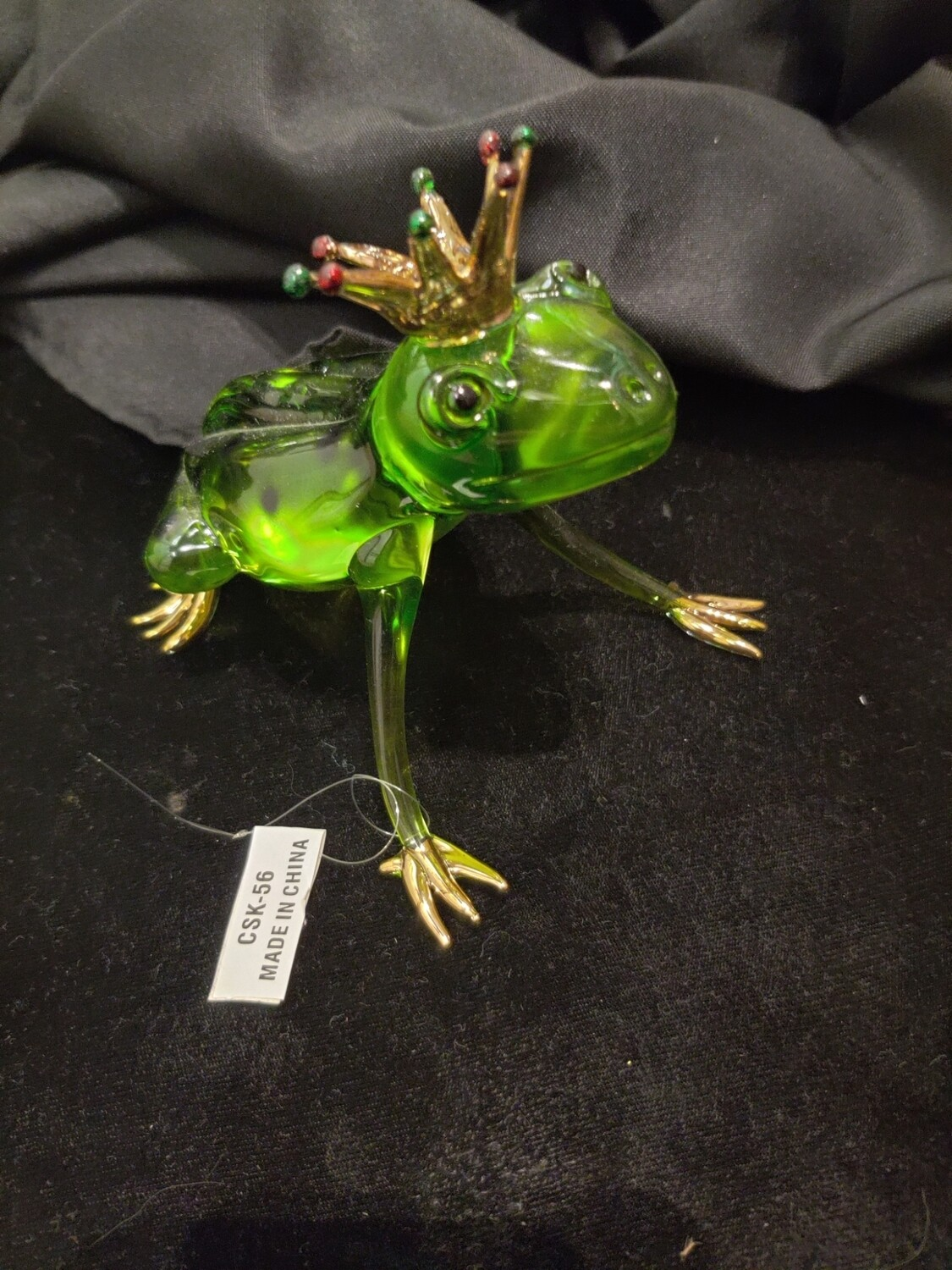 GLASS FROG WITH CROWN
