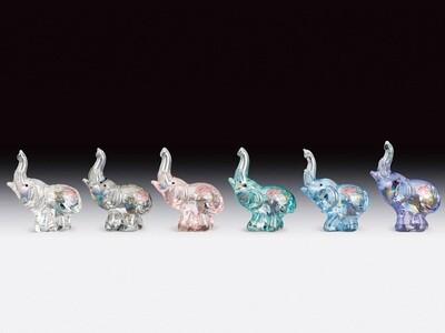 MINI GLASS ELEPHANTS