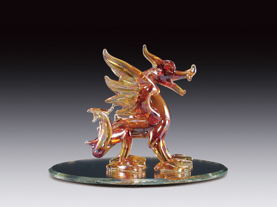 RED DRAGON ON BASE