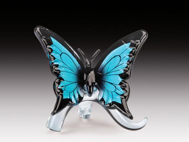 GLASS BUTTERFLY (BLUE)