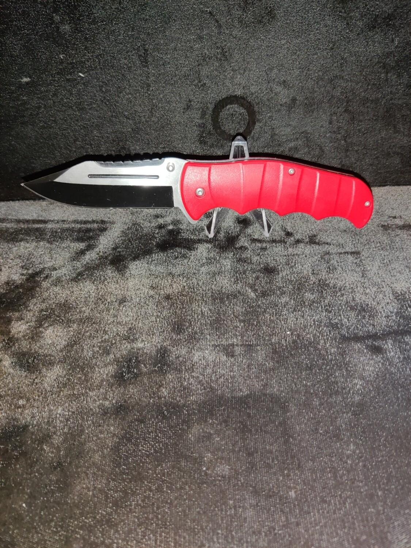 (R3) RED HANDLE POCKET KNIFE