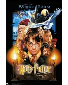 HARRY POTTER AND THE SORCERERS STONE POSTER ON CARDBOARD