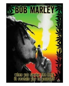 BOB MARLEY SMOKING POSTER ON CARDBOARD