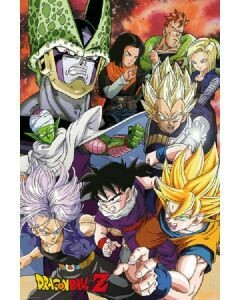 DRAGON BALLZ PERFECT CELL POSTER ON CARDBOARD