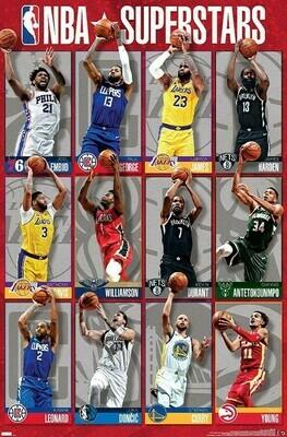 NBA LEAGUE SUPERSTARS 2020 ROLLED