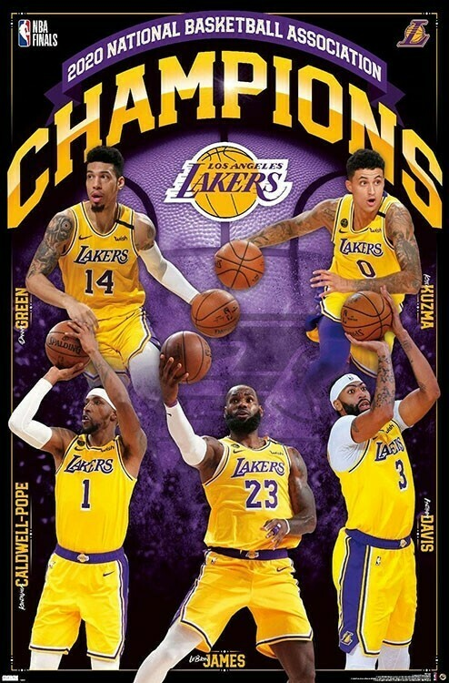 NBA LAKERS 2020 FINALS CHAMPIONS ROLLED