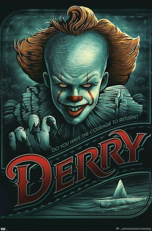 IT PENNYWISE DERRY ROLLED