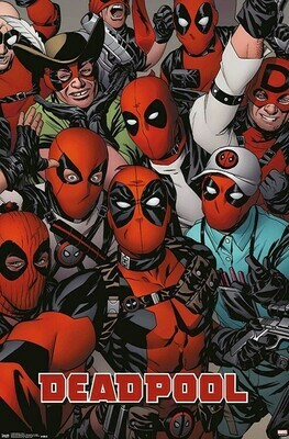 DEADPOOL FACES ROLLED