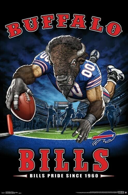 NFL BUFFALO BILLS END ZONE ROLLED